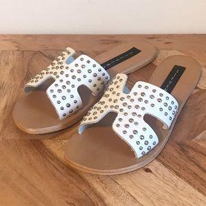 Steve Madden   Studded Leather Greece Sandals